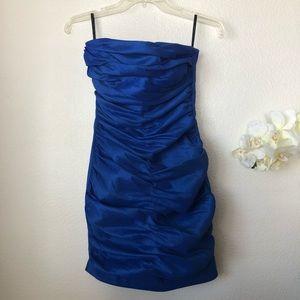 Jessica McClintock Vintage Strapless Blue Dress